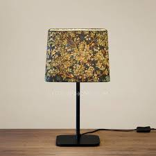 Square Table Lamp Retro Tree Pattern Square Shade Living Room Table Lamps