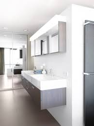 lighted medicine cabinet bathroom modern with neutral colors