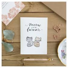 card for from groom wedding card wedding card wedding cat card cat card