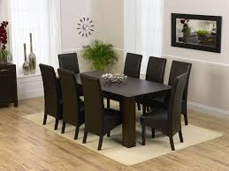 Stunning  Chair Dining Room Table Contemporary Room Design - Black dining table for 8