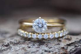 cluster wedding ring set diamond wedding set 1 50 carat solitaire