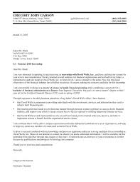 finance internship cover letter samples vault com