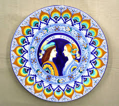 ornamental ceramic plates in faenza s artistic ceramics la