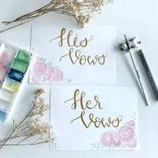 wedding vow cards customized wedding vow cards message set design craft others