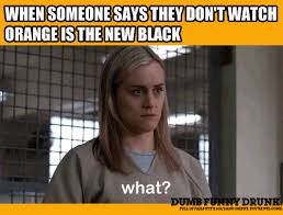 Orange Is The New Black Meme - watching orange is the new black dumbfunnydrunk com