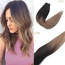 from dark brown to light brown hair amazon com googoo 40pcs 100g dark brown fading to light brown and