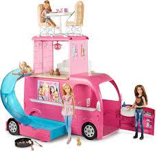 Barbie Kitchen Set For Kids Amazon Com Barbie Pop Up Camper Vehicle Toys U0026 Games