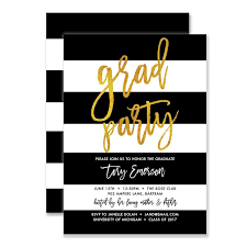 black and white invitations black white gold graduation party invitations digibuddha
