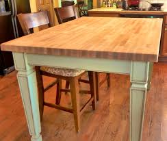furniture amazing hand made butcher block kitchen table parker