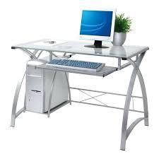 Glass L Shaped Computer Desk Corner Desk Glass U2013 Hugojimenez Me
