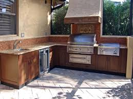 outdoor majestic outdoor kitchen kits using stone material with