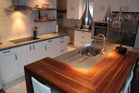 comptoir de cuisine noir comptoir de cuisine en bois