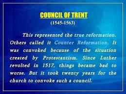 Council Of Trent Summary 3 Church History