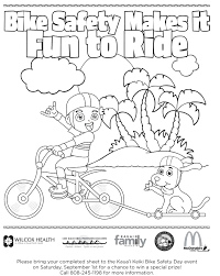 printable bike safety coloring pages halloween free summer happy