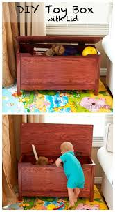 Diy Plans Toy Box by Diy Toy Box With Lid Diy Toy Box Diy Toys And Toy Boxes