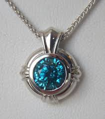 zircon necklace images Blue zircon pendant kloiber jewelers jpg