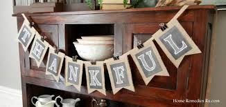 thanksgiving banner home remedies