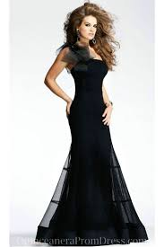 one shoulder black floor length elegant cheap pageant dress for