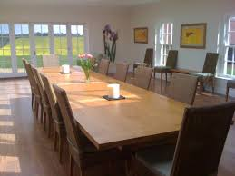 large dining room table seats 12 with the long dining table design
