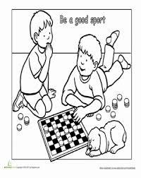 good sport worksheet education