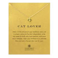 cat lover best friend heart paw necklace gold dipped dogeared