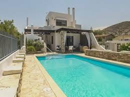 luxury villa at artemis davis beach in greece blue island youtube