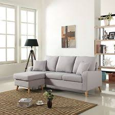 Grey Sofa With Chaise Grey Sectional Sofas Loveseats U0026 Chaises Ebay