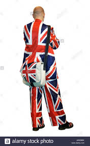 England Flag Colors Man Traditional English Culture British Flag Concepts Composition