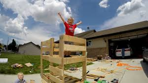 Pallet Bunk Beds Toddler Pallet Bunk Bed Made By Toddler Journey To