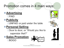 Paid Under The Table Chapter 15 Promotion Means Effective Communication 1 Newsline