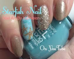 starfish nail art easy diy nail design youtube
