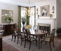 traditional dining room with chair rail u0026 metal fireplace zillow