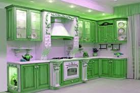 Kitchen Cabinets Glass Doors Green Kitchen Cabinets With Glass Doors Marti Style