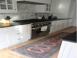 Black White Runner Rug Grey And Pink Kitchen Runner Rug Kitchen Runner Rugs Pinterest