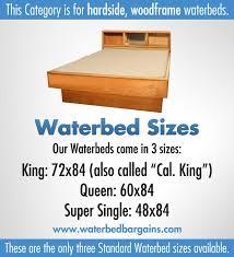 hardside waterbed premium waterbeds super single queen and