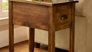 table commendable rustic side table with drawers valuable rustic