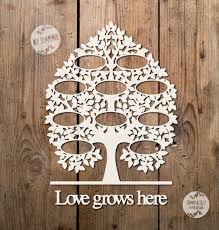 svg pdf 10 name family tree design papercutting template to