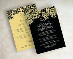 wedding invitations black and white awesome black white and gold wedding invitations or invitation