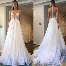 berta wedding dresses berta bridal ivory tulle and sequins embellished plunging v neck