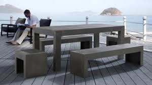 Garden Table And 2 Chairs Beliani Garden Beton Furniture Set Concrete Table 2 Benchs 2