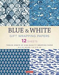 wrapping papers blue white gift wrapping papers 12 sheets of high quality 18 x