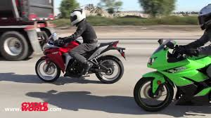 cost of honda cbr 150 kawasaki ninja 250r vs honda cbr250r bonus video youtube