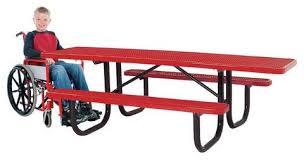 heavy duty steel mesh picnic table 72