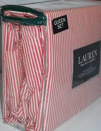 Ralph Lauren Sheet Set Ralph Lauren Queen 4pc Sheet Set Oxford Thin Red Stripe What U0027s