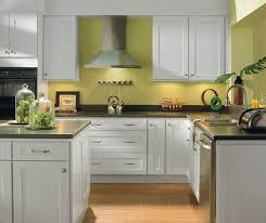 alpine white shaker style kitchen cabinets homecrest cabinetry