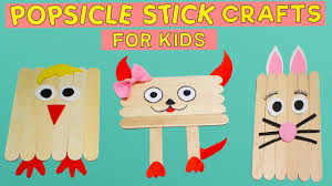 3 minute crafts how to make popsicle stick crafts for kids cat