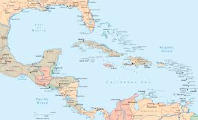 map of central america and the caribbean inside of mexico and