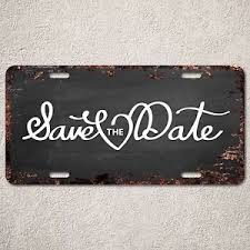 save the date signs lp294 save the date sign rust vintage auto car license plate home