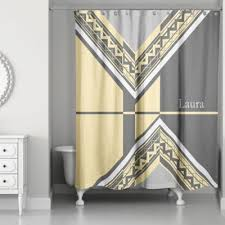 Grey And Yellow Shower Curtains Buy Yellow And Grey Shower Curtains From Bed Bath Beyond