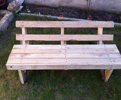 Outdoor Wooden Benches One Wood Pallet Garden Bench